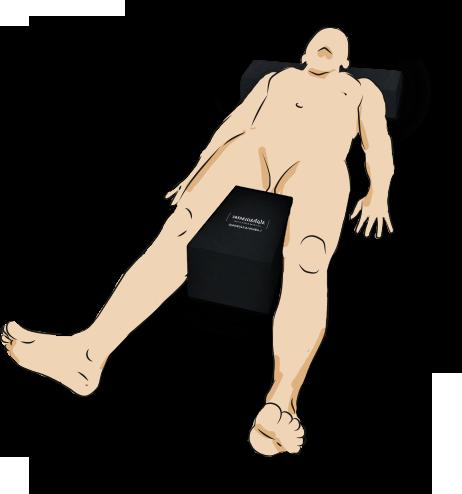 Ilustração representando a aplicação do Posicionador de Trapézio da Alphamaster.
